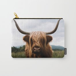 Scottish Highland Cattle in Scotland Portrait II Carry-All Pouch