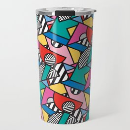 Colorful Memphis Modern Geometric Shapes Travel Mug