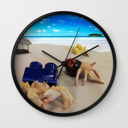 Crabs in the Sand Wall Clock