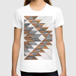 Urban Tribal Pattern 12 - Aztec - Wood T-shirt