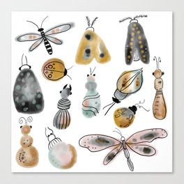 busy bugs Canvas Print