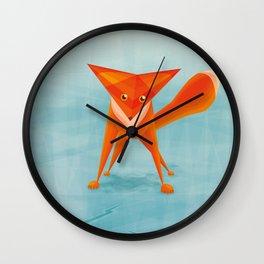 Fox on ice Wall Clock