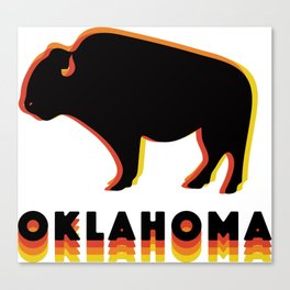 Retro Buffalo Canvas Print