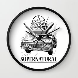 Supernatural Impala Black and White Wall Clock