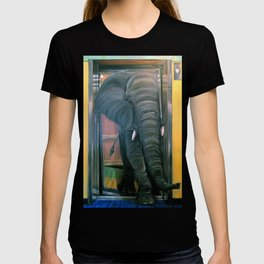 the elephant in the elevator T-shirt
