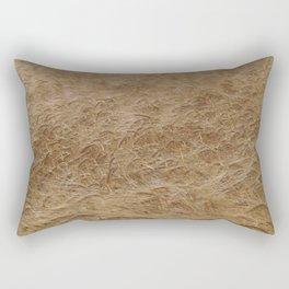 natural nature golden wheat field texture pattern Rectangular Pillow