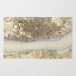 Vintage Map of Liverpool England (1872) Rug