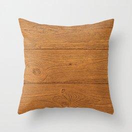 The Cabin Vintage Wood Grain Design Throw Pillow