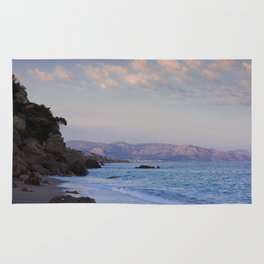Blue Evening On Crete Rug