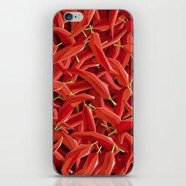 Too many Chillies iPhone Skin