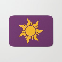 Tangled Rapunzel Sun Logo - Corona Symbol Bath Mat