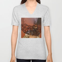 Study of textures and terra cotta Unisex V-Neck
