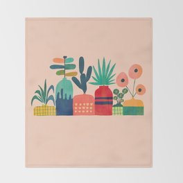 Plant mania Throw Blanket