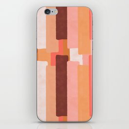 Line In Coral #society6 #abstractart iPhone Skin