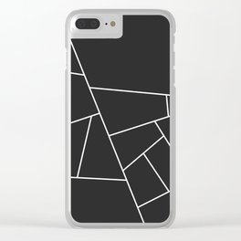 Modern Geometric 56 Clear iPhone Case