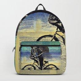 True blue love Backpack