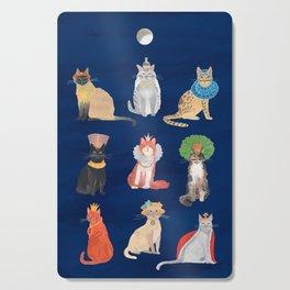 Cat Queens (Blue) Cutting Board