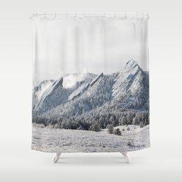Frosty Flatirons Shower Curtain