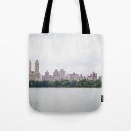 Monochromatic - New York City Central Park, Architecture Landscape, Cloudy City Skyline Photography Tote Bag