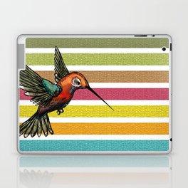 Colorful Hummingbird Stripes & Mosaic Tiles Laptop & iPad Skin