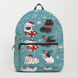 Christmas French Bulldog Backpack