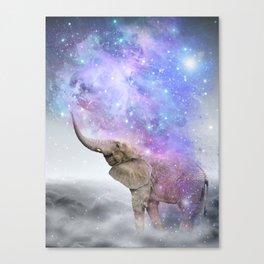 Don't Be Afraid To Dream Big • (Elephant-Size Dreams) Canvas Print