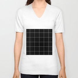 Black Grid /// www.pencilmeinstationery.com Unisex V-Neck
