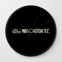 Washington D.C.: Black Flag Wall Clock