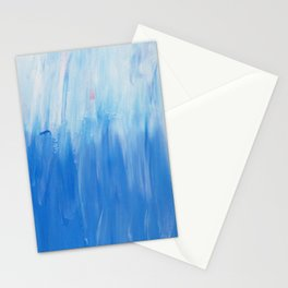 Palette colours - white and blue Stationery Cards