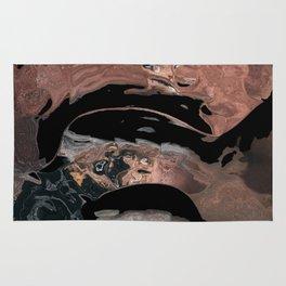 Black desert waters Rug