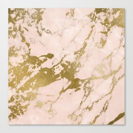 Champagne Blush Marble Canvas Print
