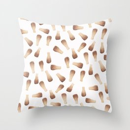 Modern watercolor brown cola bottles candy pattern Throw Pillow