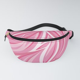 Pink abstract leaf pattern. Digital batik pattern. Vector illustration background Fanny Pack