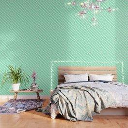 Mint Julep #2 Diagonal Stripes Wallpaper