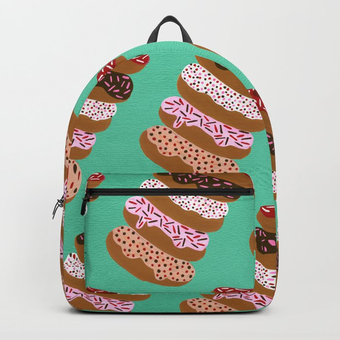 Stacked Donuts on Mint Backpack
