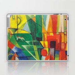 """Franz Marc """"Landscape with House and Two Cows (also known as Landscape with House, Dog and Cattle)"""" Laptop & iPad Skin"""