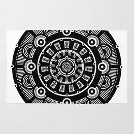 Modern Mandala (Black & White) Rug