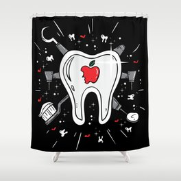 Molar Imagery | Dentistry Shower Curtain
