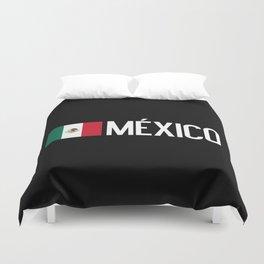 Mexican Flag & México Duvet Cover