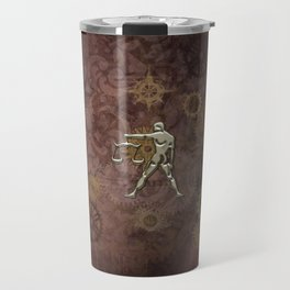 Steampunk Zodiac  Libra Travel Mug