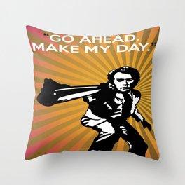 Dirty Harry Go Ahead Make My Day Throw Pillow