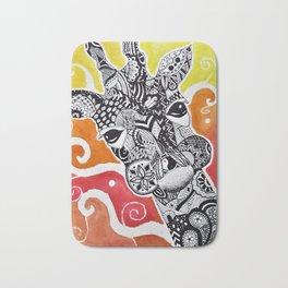 Zentangle Giraffe Bath Mat
