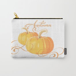 Golden Orange Autumn Pumpkins Carry-All Pouch