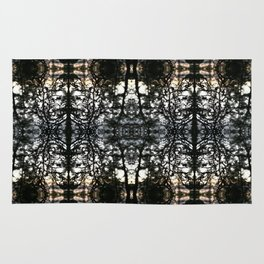 Evening branches as kaleidoscopic forest lace Rug