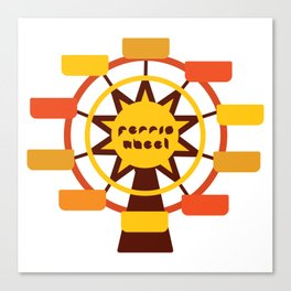 Ferris Wheel / Big wheel / park Canvas Print