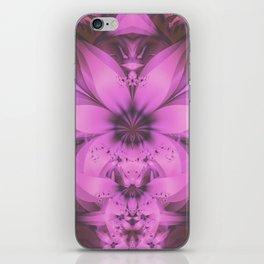 Pretty in Pink Fractal Flower Star-Shaped Petunias iPhone Skin