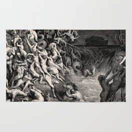 World Destroyed by Water Gustave Dore, 1866 Rug
