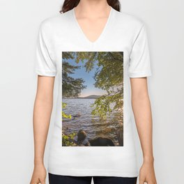 Secret Place By The Lake Unisex V-Neck