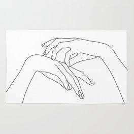 Hands line drawing illustration - Clea Rug