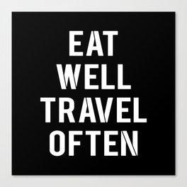 eat & travel Canvas Print